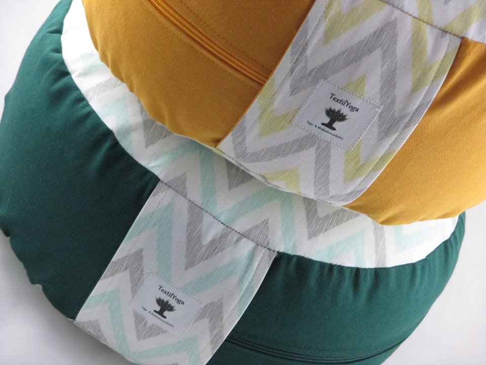 Meditationskissen Medium Pinie/ Chevron Minty