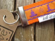Schlüsselband Yoga Asana (orange)