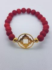 Armband Wurzelchakra (vergoldet)